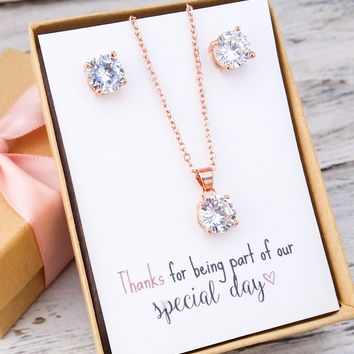 Rose Gold/Silver Jewelry Set