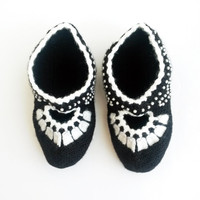 Women's knit slippers - Knit slippers Indoor slippers Knit home shoes Indoor shoes Winter slippers Christmas gift ideas Gift for her