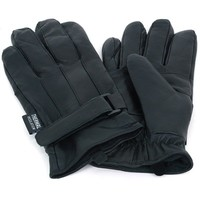 Mens Dressy Leather Gloves Velcro Wrist Strap Warm Thermal Lining Insulated 40Gr