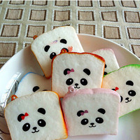 1PCS Mini Random Squishy Soft Panda Bread Phone Straps 3C