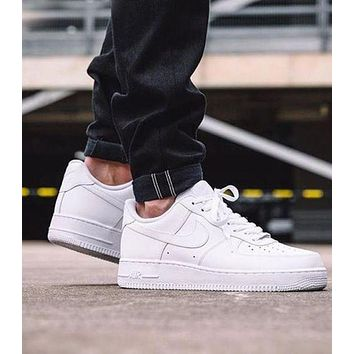 NIKE Women Men Running Sport Casual Shoes Sneakers Air force White-1