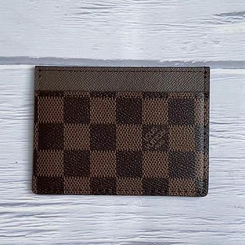 LV Louis Vuitton New Product Printed Letter Card Case Key Bag #2
