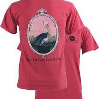 SALE Southern Couture Preppy Pelican Comfort Colors Crunchberry Girlie Bright T Shirt