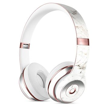 White Grungy Marble Surface Full-Body Skin Kit for the Beats by Dre Solo 3 Wireless Headphones