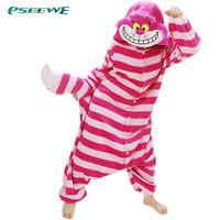 cheshire cat pijama woman Polar fleece Winter Unisex Animal Onesuit Pajamas Cosplay Cheshire Cat Costume Pajamas Adult Onesuit