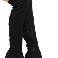 FAUX SUEDE OVER THE KNEE BOOT