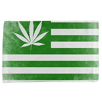 American High Pot Leaf Flag All Over Hand Towel