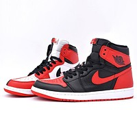 Bunchsun Air Jordan 1 Tide brand color matching high-top shoes