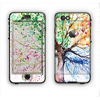 The WaterColor Vivid Tree Apple iPhone 6 LifeProof Nuud Case Skin Set
