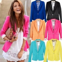 Lowest Fall Promotion  blazer women suit blazer foldable brand jacket  spandex with lining Vogue refresh blazers Free shipping
