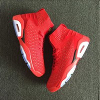 Air Jordan 6 Retro Flyknit Gym Red AJ 6 Sneakers - Best Deal Online