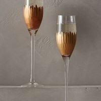 Imperial Caviar Flutes by Anthropologie in Gold Size: S/2 Flute Kitchen