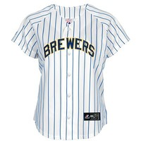 Women's Replica Jersey - Milwaukee Brewers - Alternate | Majestic Athletic Official Store