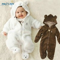 New 2017, autumn winter clothes, baby sliders, warm clothes, newborn, baby, boy girl overalls, 0-9 M Baby Jumpsuit PPY-205