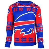 Buffalo Bills Forever Collectibles KLEW Big Logo Ugly Sweater Sizes S-XXL w/ Priority Shipping