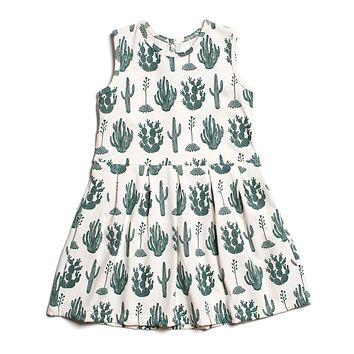 Green Cactus Tank Dress by Winter Water Factory