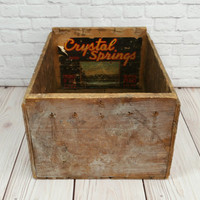 Vintage Wood Pear Crate Crystal Springs