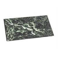 Stylish Glass & Wood Marble Look Decorative Tray, Green