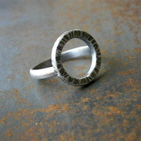 hammered ring. sterling silver band. fashion rings. black ring. contemporary silver ring #rustic #ring #black #silver