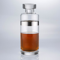 Silver Accented Slim Whiskey Decanter