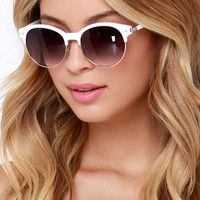 Make a Spectacle Gold and Ivory Sunglasses