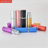 5ML Travel Aluminum Refillable Perfume Bottle Spray Empty Cosmetic Containers New Makeup Sets