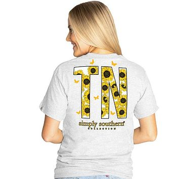 Simply Southern Preppy Tennessee Sunflower T-Shirt