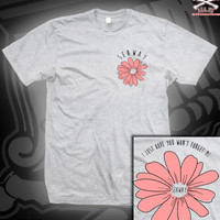 SEAW FLOWER TEE ON ASH GREY