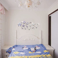 3D Wall Sticker Strong Character Crystal Mirror Home Decor [6282553862]