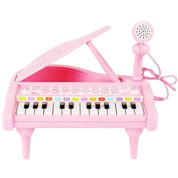Conomus Piano Keyboard Toy for Kids,1 2 3 4 Year Old Girls First Birthday Gift , 24 Keys Multifunctional Musical Electronic Toy Piano for Toddlers …