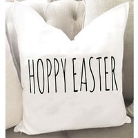 Hoppy Easter Throw Pillow Cover