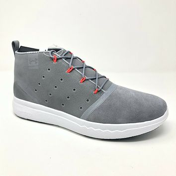 Under Armour UA Charged 24/7 Mid Gray White Casual 3020007 100 Mens Size 10