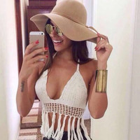 Womens Fashion Cosy Handmade Crochet Top Camisole Summer Gift-20