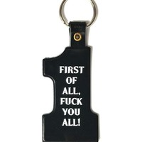 First Of All... Keychain - Black