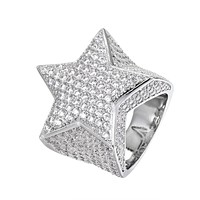 Men's Sterling Silver 3D Star  Ring
