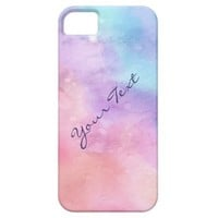 Personalized Pink and Blue Watercolor