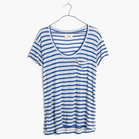 Anthem Short-Sleeve Scoop Tee in Stripe