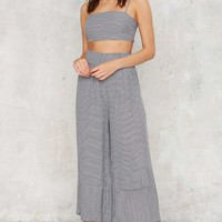After Party Vintage Check Yourself Houndstooth Pants