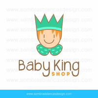 OOAK Premade Logo Design - Baby King - Perfect for a children clothing or toys brand