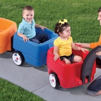 CHOO CHOO TRAIN WAGON COMBO - RED, BLUE & ORANGE