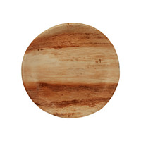 """Compostable RD03 9"""" Palm Leaf Plates 25/Pack"""