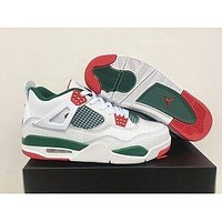 Air Jordan 4 Retro White/Green