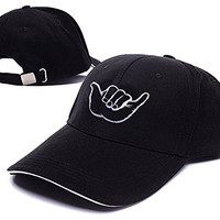 YUDUODUO Hang Loose Shaka Brah Small Surfing Adjustable Baseball Caps Unisex Snapback Embroidery Hats