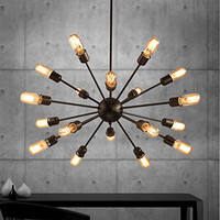 Industrial Metal Large Chandelier With 18 Lights Painted Finish
