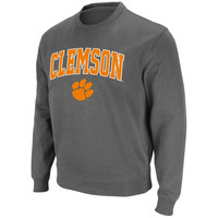 Clemson Tigers Arch and Logo Sweatshirt – Charcoal