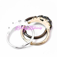 """PRISONER OF LOVE"" HANDCUFF BANGLE in silver plated"