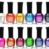 Kleancolor Nail Polish - Awesome Metallic Full Size Lacquer Lot of 12-pc Set [8833424012]