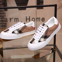 Burbelly Hot Sale Men Genuine Leather Fahsion Women Casual Sports Shoes Sneakers