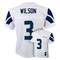 Russell Wilson Seattle Seahawks #3 NFL Youth Mid-Tier Alternate Jersey White