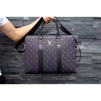 LV Louis Vuitton MEN'S MONOGRAM ECLIPSE EXPLORER BRIEFCASE BAG